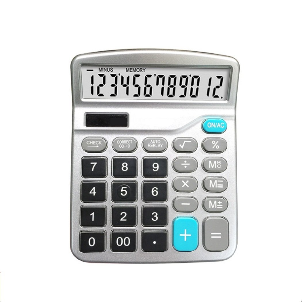 Office /Desktop /Standard Function/ Calculator with 12-digit Large Display Solar and Built-in battery Dual Power Sweet decoration