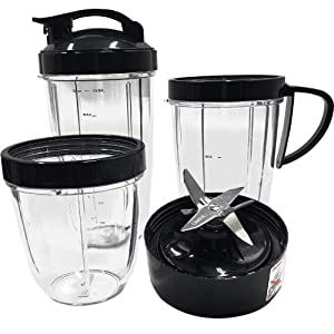 joystar Replacement parts Cup and Blade Set for nutribullet prime,nutribullet balance Nutribullet lean , Nutribullet Max, nutribullet select For 1200W NutriBullet Blender Juicer (7)