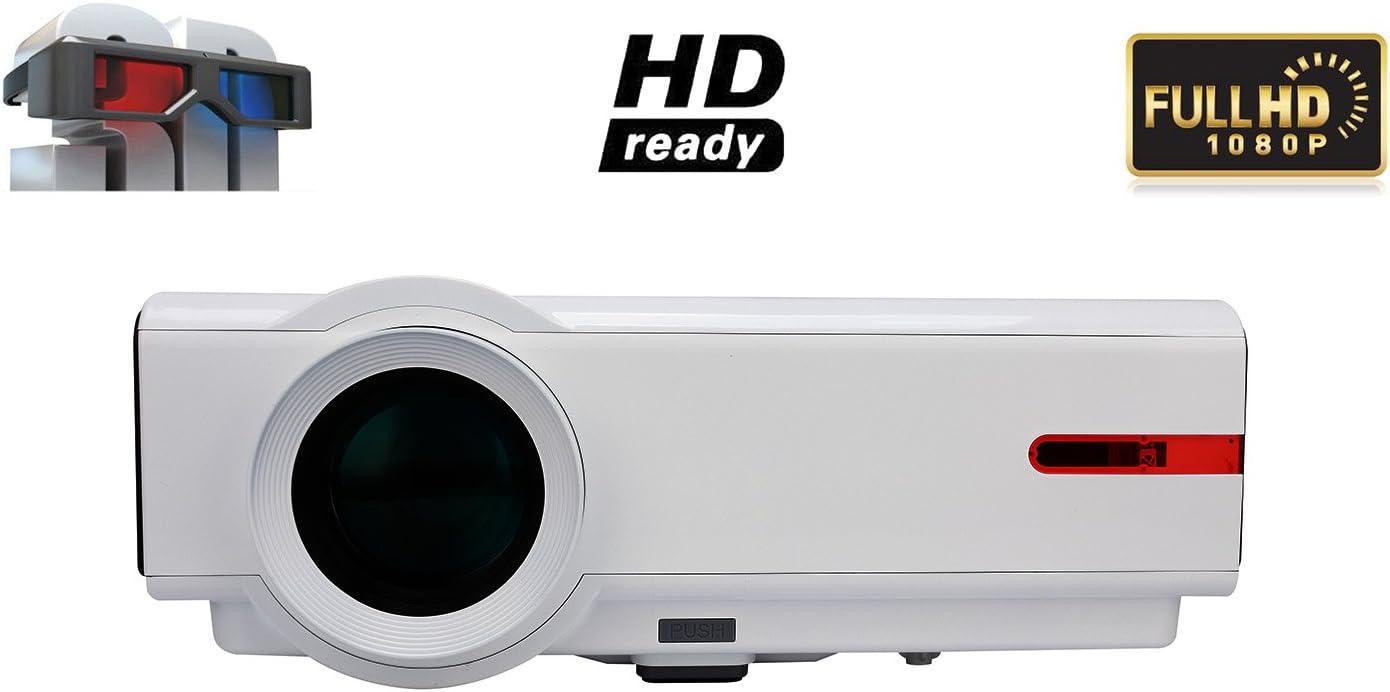 Proyector Video Full HD 1080p Video Proyector 1080p 5000 lúmenes ...