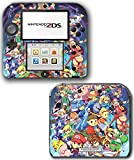 Super Smash Bros Mario Pikachu Link Zelda Samus Pokemon Go Ash Donkey Kong Video Game Vinyl Decal Skin Sticker Cover for Nintendo 2DS System Console