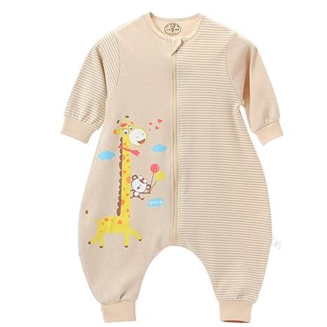 Recién nacidos de bebé manga larga algodón saco de dormir Pijama