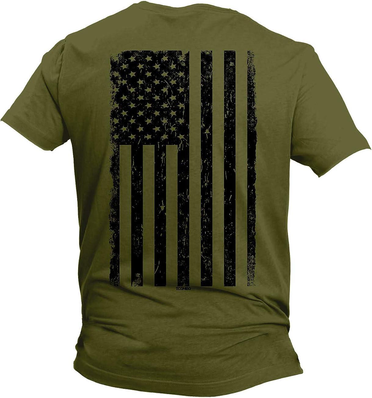 Distressed Black USA Flag - United States Men's T-Shirt