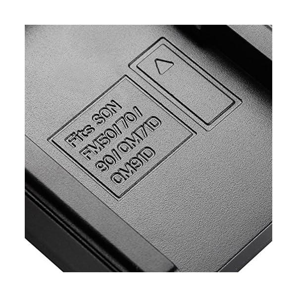 Neewer 90086570, Caricabatterie con Connettore Micro USB e Confezione da 2 Batterie di Ricambio 2600mAh NP-F550/570/530 per Sony Handycam, Neewer Nanguang CN-160, CN-216, CN-126 Luci LED, Luci On-fotocamera Polaroid 7 spesavip