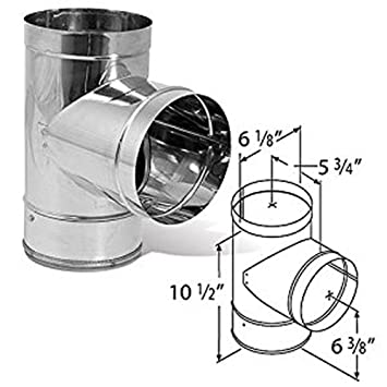 Single Wall Stainless Steel 48 DuraBlack Stove Pipe DuraVent 6DBK-48SS 6 Inner Diameter