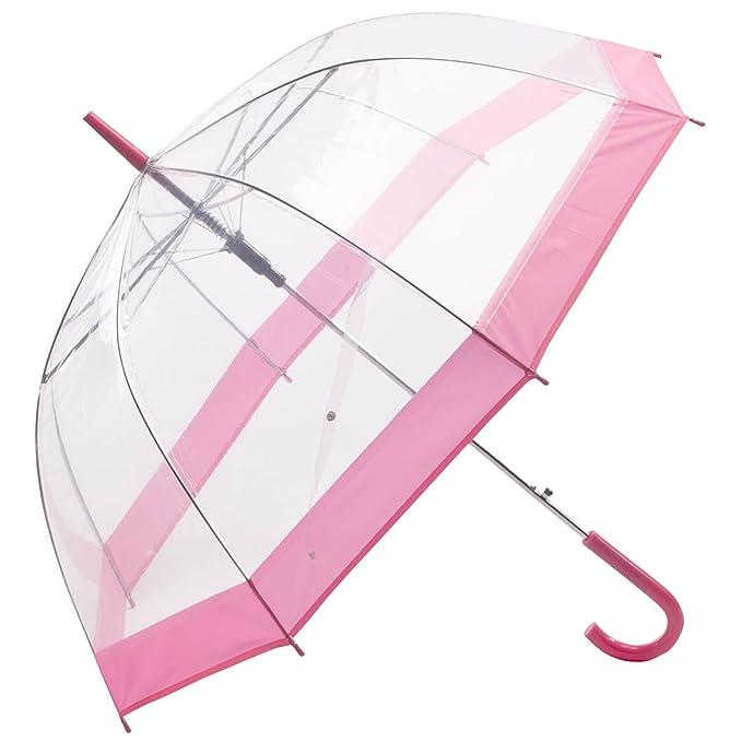 36a4a6c3c33c Clear Umbrella with Pink Trim