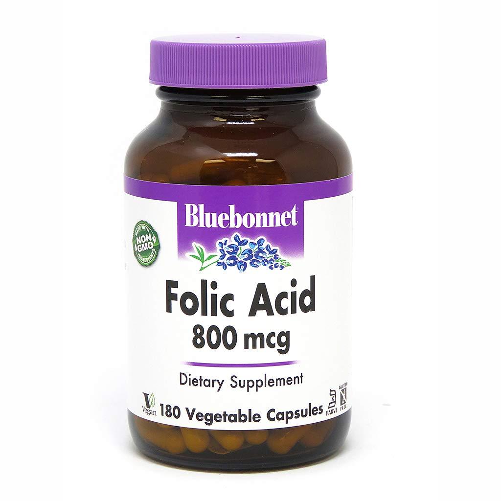 Folic Acid 800 mcg Vegetable Capsules