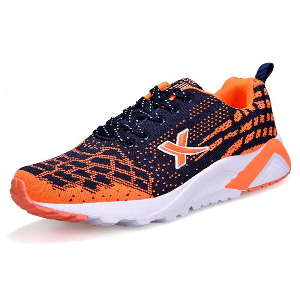 YXLONG Calzado Deportivo Transpirable para Hombre Calzado Deportivo Deportivo New Meshing Liviano Calzado Casual para Hombre,Orange-44 44 Orange