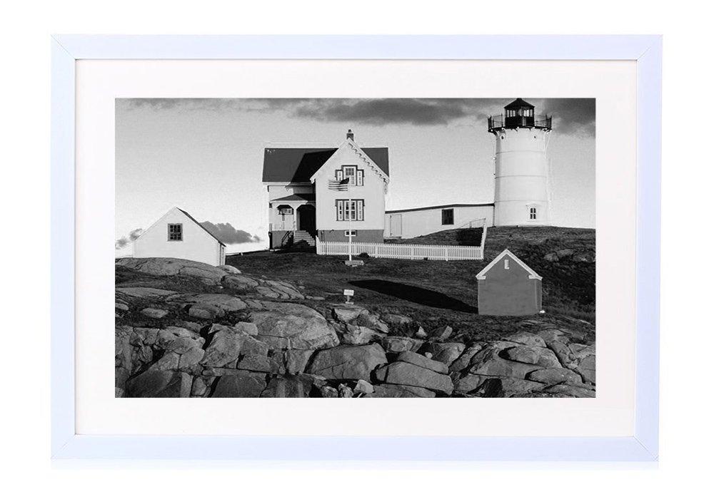 Cape Neddick Nubble Lighthouse York Maine Framed Poster Picture