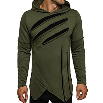 Men T-shirt,Men's Long Sleeve Hoodie Hooded Sweatshirt Tops ...