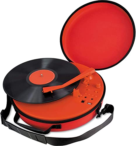 Coca-Cola CCT01 Retro Turntable with Bluetooth Speaker, 3 Different Playback Modes, 33S, 45S, 78S Playback Support, Built in Powerful Lithium Battery, with Portable Carry Case, Red