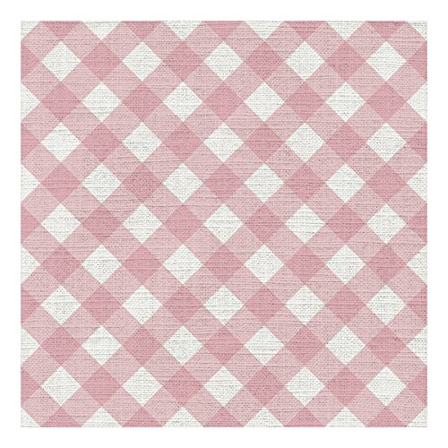 Graphique Gingham Pink Cocktail Napkins - Pack of 20 - Soft, Triple-Ply, Disposable Beverage Napkins, Great for Parties, Picnics and Hosting in Style ()