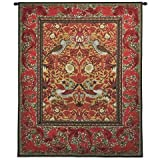 Fine Art Tapestries ''Strawberry Thief Red'' Wall Tapestry