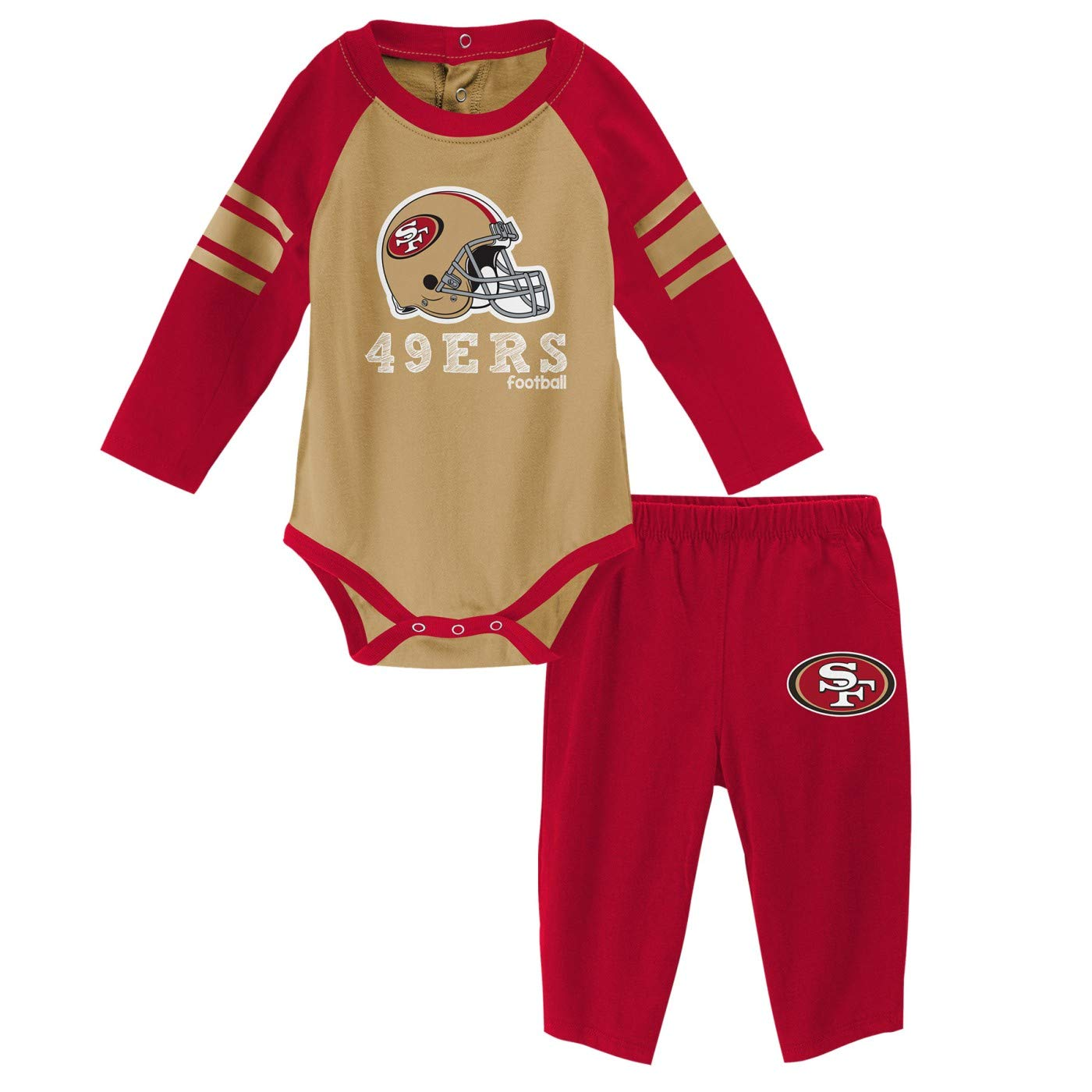 Amazon.com   Outerstuff San Francisco 49ers NFL Future Starter Infant Long  Sleeve Creeper   Pant Set   Sports   Outdoors f2e8d9708