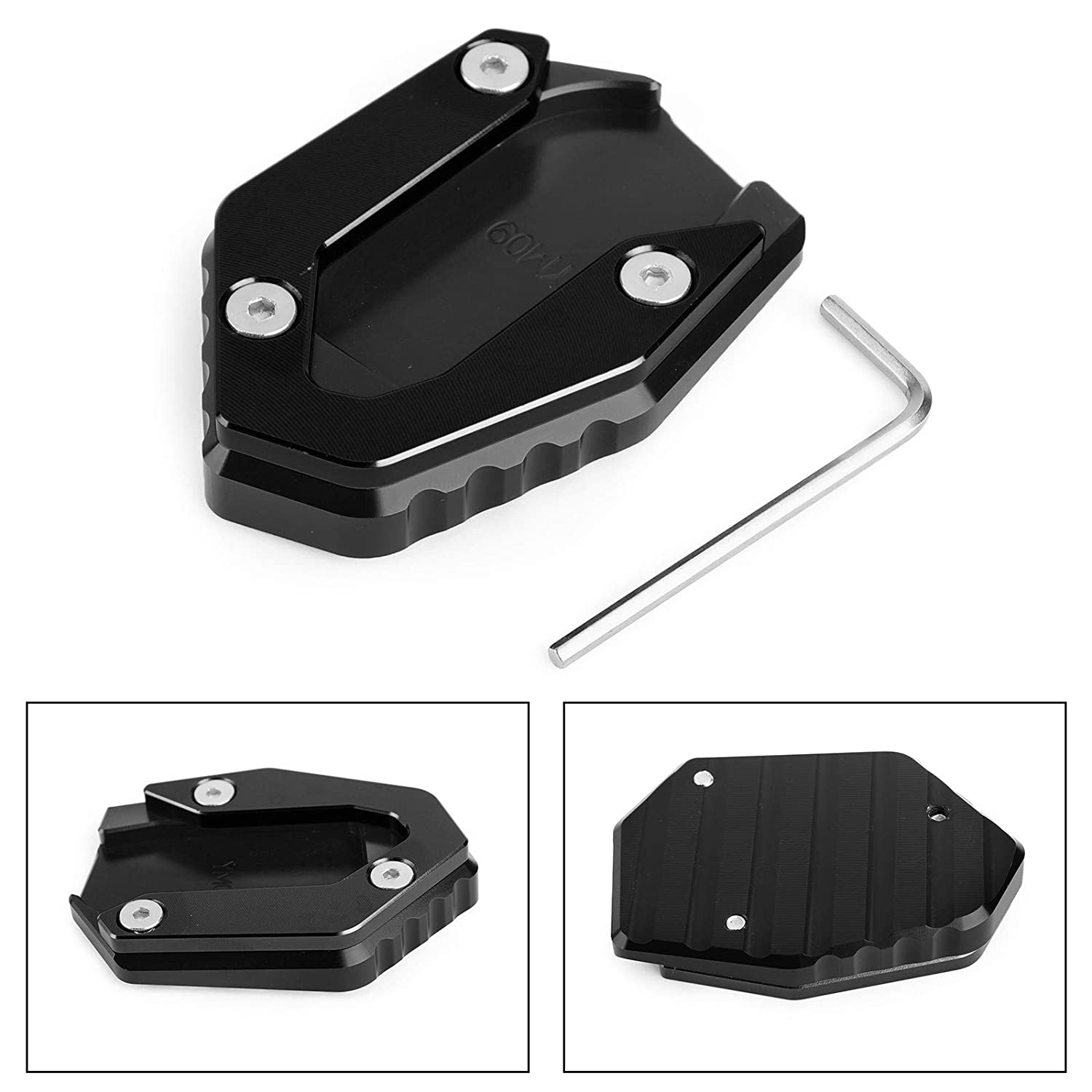 Artudatech Motorcycle Side Stand Plate Motorbike Kickstand Side Kick Stand Enlarger Foot Pad Extension Plate for YAMAHA MT09 FZ09 FJ09 TRACER 900 2015-2019