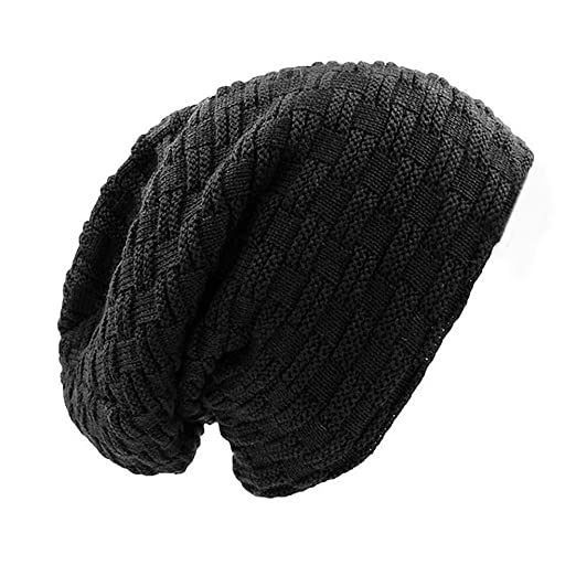 d66805facc6 Slouchy Long Oversized Beanie Hat for Women and Men Fleece Lined Winter  Warm Knit Large Skullcap