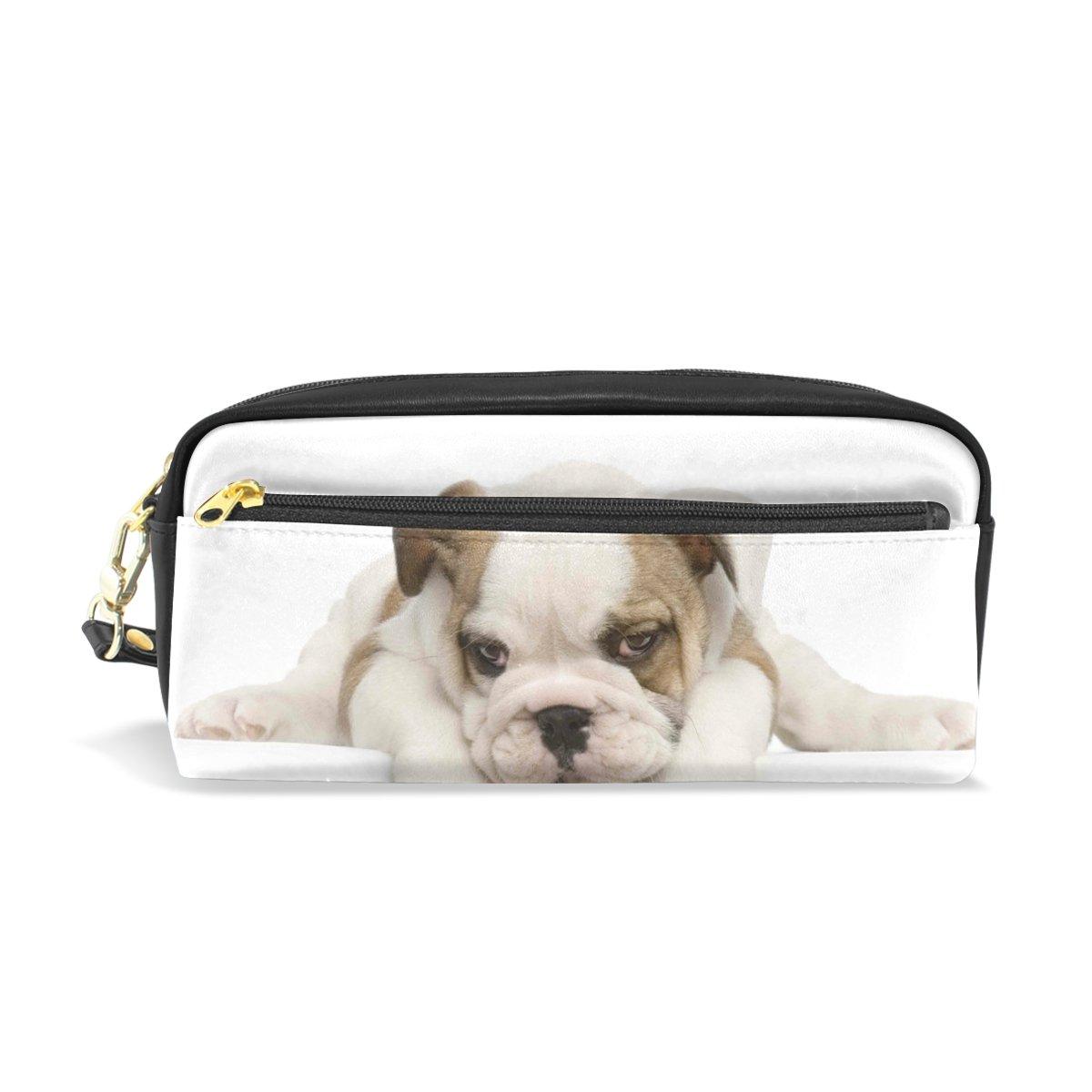 BENNIGIRY Bulldogge Gesicht Mops Bleistift Fall tragbar Pen Tasche Student Schreibwaren Pouch PU Leder Groß Kapazität Reißverschluss Make-up Kosmetiktasche B077TMSLX4     | Diversified In Packaging