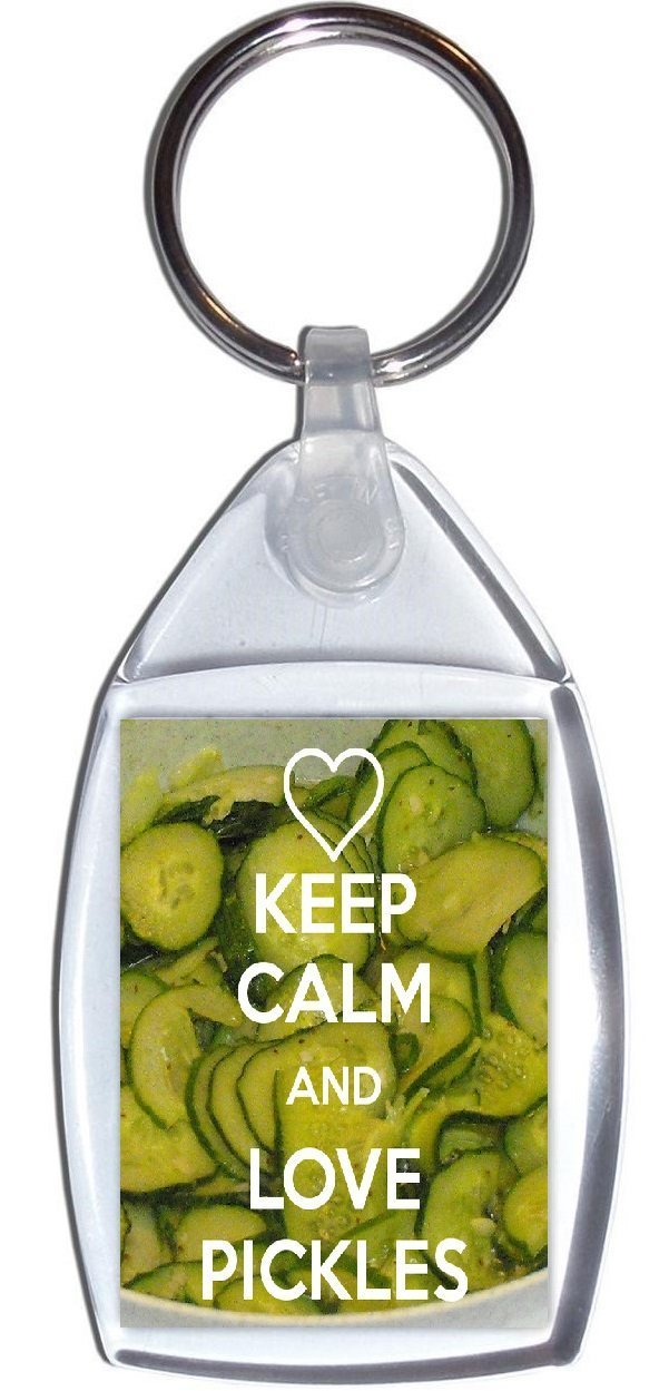 Keyring Keep Calm and Love Pickles