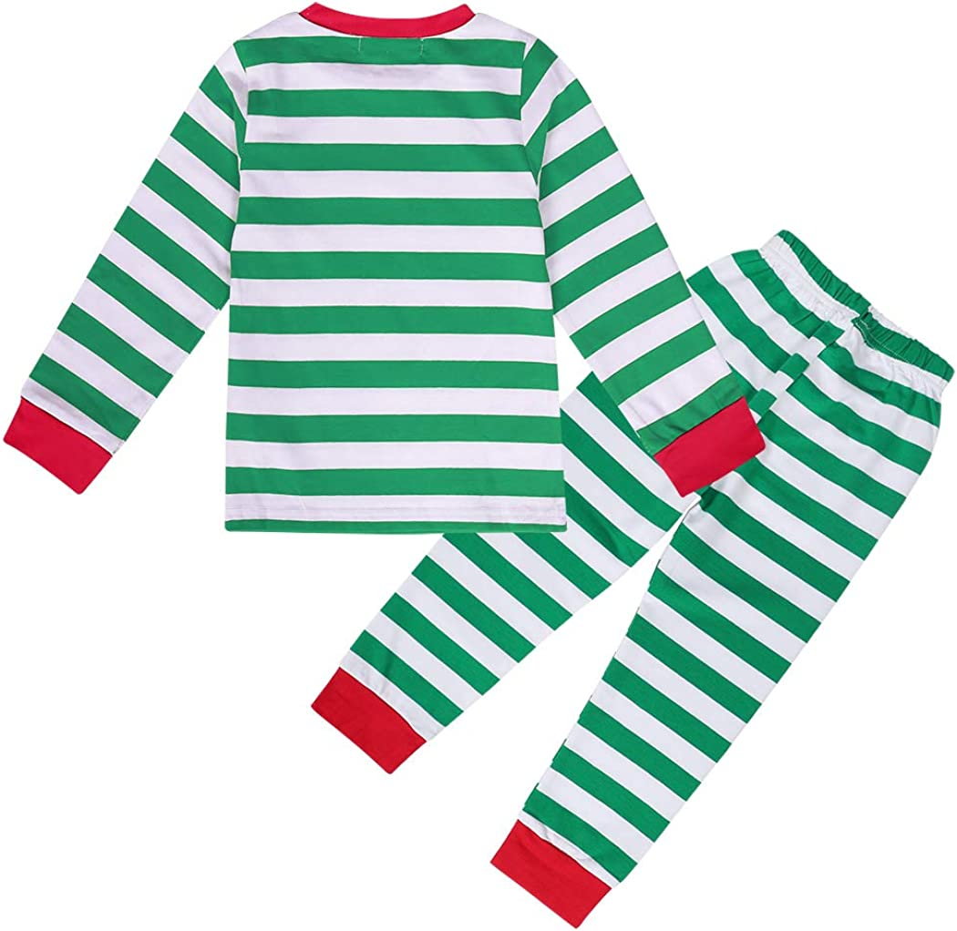 AmzBarley Little Boy Pajamas Long Sleeve Set Cotton Cartoon Print Sleepwear Clothes Unisex Nightgown