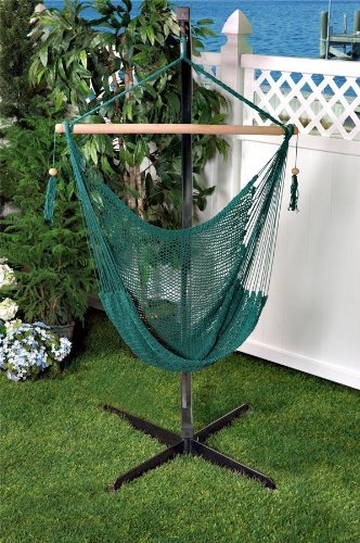 Medium image of bliss hammocks bhc 412g island rope hammock chair