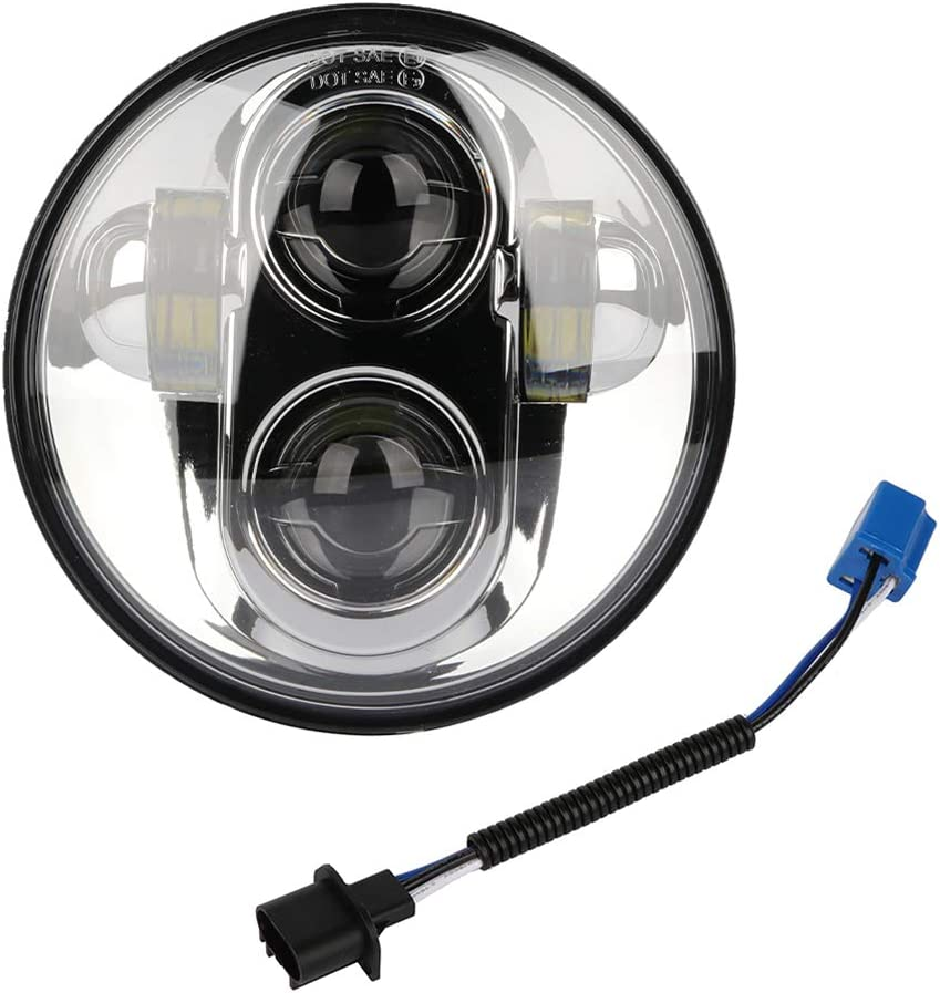 2003Fits For Road Star Midnight Star XV1600AS XV1700AM 2001-2007 5-3//4 5.75 LED Motorcycle Headlight High-Low Beam fits for Fits For Yamaha ModelsFits For Road Star Limited Edition XV1600A