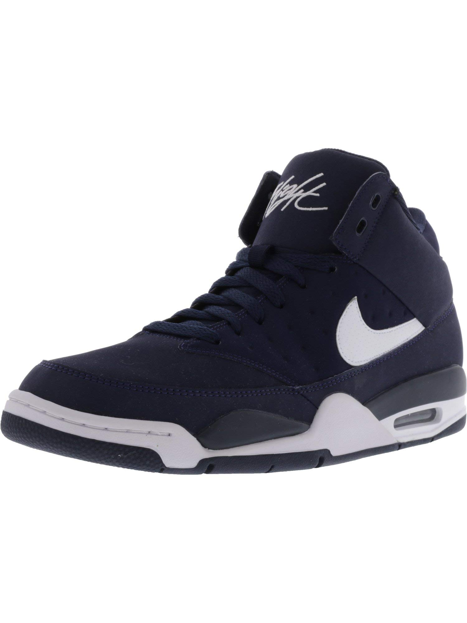 81bd0a0966d9 Galleon - Nike Men s Air Flight Classic Obsidian White High-Top Leather  Basketball Shoe - 11.5M