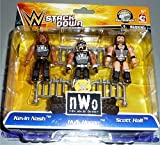 WWE Stackdown nWo 3 Pack with Kevin Nash, Hulk Hogan and Scott Hall Mini Figures
