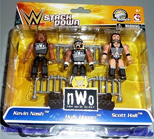 WWE Stackdown nWo 3 Pack with Kevin Nash, Hulk Hogan and Scott Hall Mini Figures by WWE