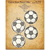 Soccer Ball Art - 11x14 Unframed Patent Print - Great Gift for Soccer Fans, Soccer Players and Boy's Room Decor