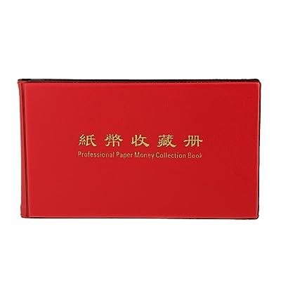 20 Pages Collection Monnaie De Papier-monnaie De Billets De Banque Album De Stockage De Livres Rouges