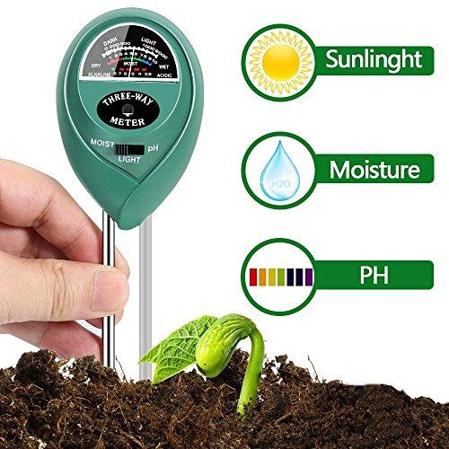 MEYUEWAL 3-in-1 Soil Test Kit for Moisture, Light & pH, Soil PH Tester Pro, for Garden,Farm,Plants, Lawn, Indoor/Outdoors Plant Care Soil Tester (No Battery Needed) by MEYUEWAL (Image #6)
