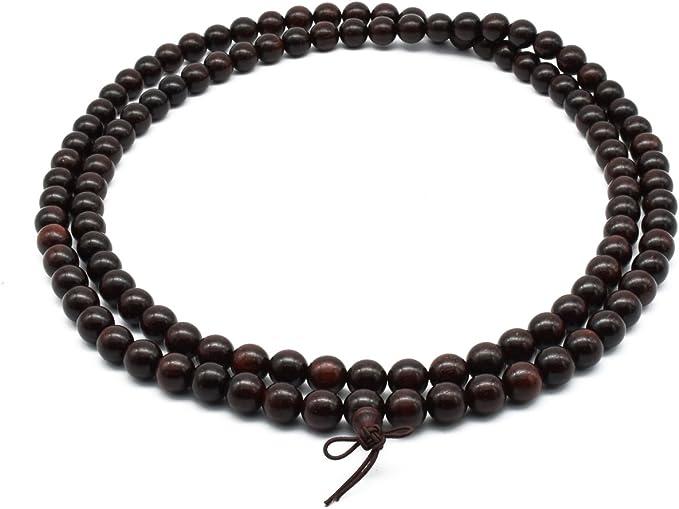 18mm Red Sandalwood Mala Prayer Beads 0133