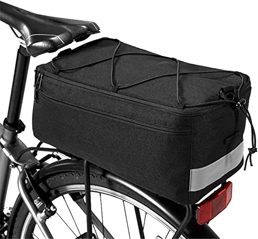 Bolsa de Asiento de Bicicleta Paquete de Maletas Reflectantes for Maletas de Bicicleta City Road Bike Bolsa de Maletero for Asiento Trasero con Forro Impermeable Paquete de Bicicleta portátil al Aire: Amazon.es: