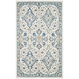 Cheap Safavieh Evoke Collection EVK224C Contemporary Ivory and Light Blue Area Rug (2'2″ x 4′)