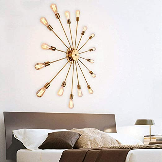 Amazon.com: MMPY Creative Wrought Iron Chandelier Industrial Wall Lamp Lighting Large 16 Lamp Embedded Bedroom Living Room Ceiling Lamp (Size : B): Home & ...