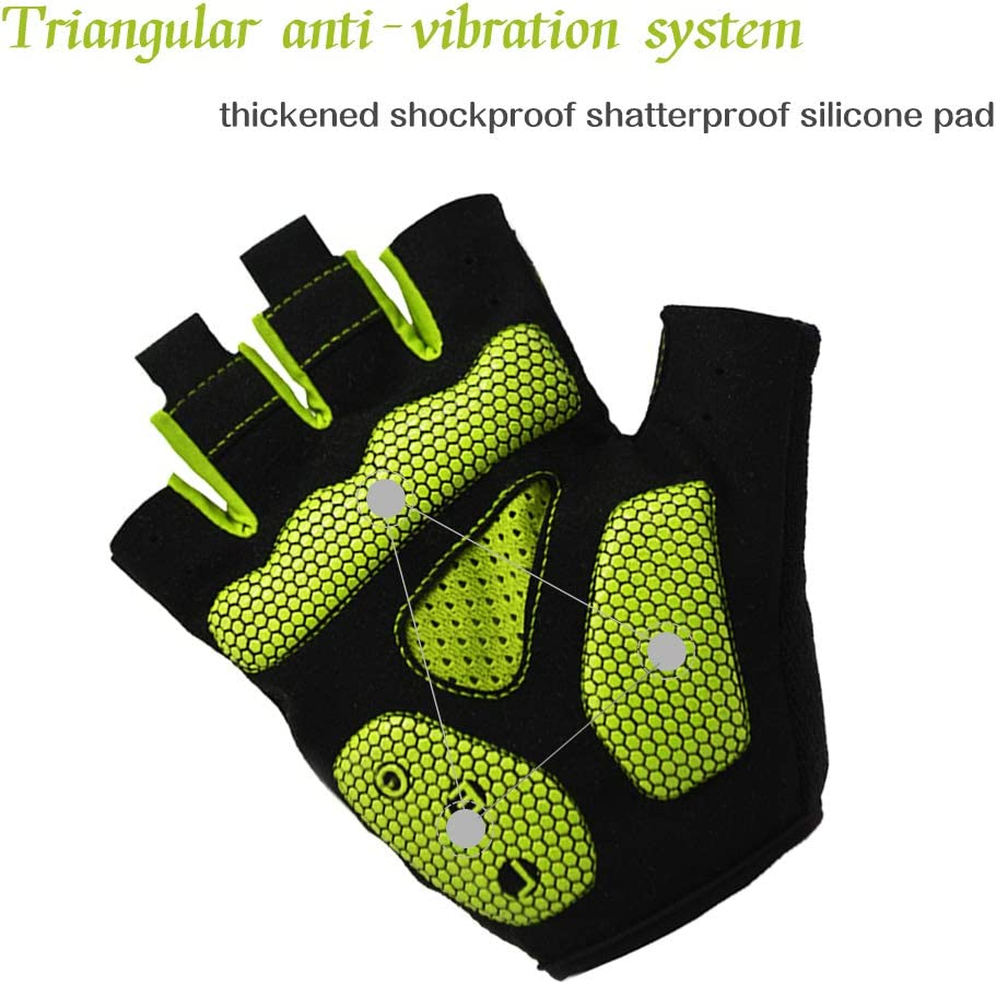 Mecotime Sale Cycling Gloves Shockproof Silicone Half Finger Weight Lifting Gloves for Biking Workout Bicycle