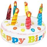 Tarta hinchable Happy Birthday para cumpleaños y fiestas