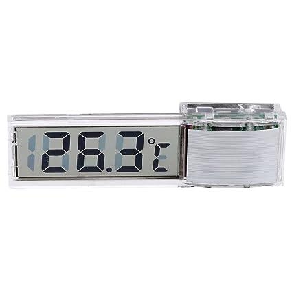 SODIAL Mini termometro digital transparente LED Medidor de temperatura para el acuario