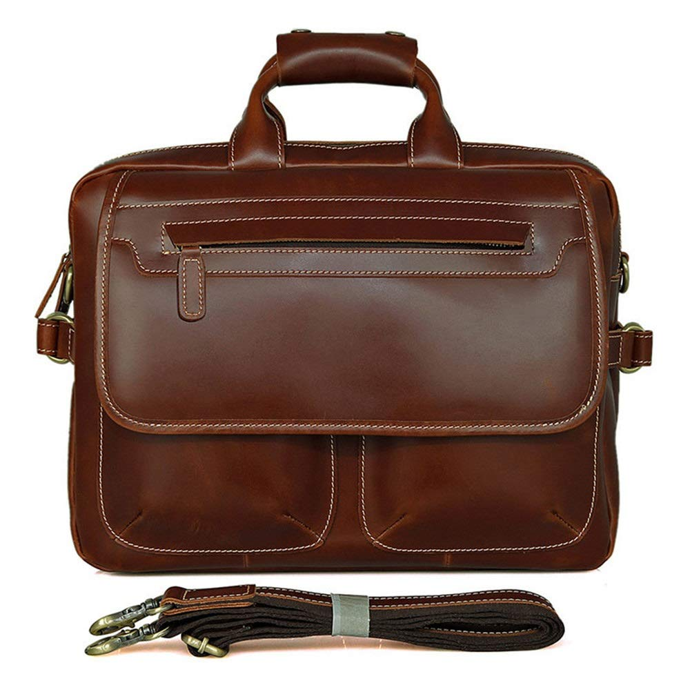 KIMIBen-CMB Laptop Briefcase Men's Briefcase Shoulder Bag Laptop Bag Leather Messenger Bag Business Casual Bag14-inch Notebook Bags Mobile Phone Bag Tablet Bag Crossbody Shoulder Bag