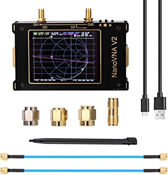 SEAAN Analizador De Red Vectorial Pantalla Táctil De 3.2 Pulgadas Carcasa Metálica 50khz-3ghz Hf VHF UHF El Analizador De Antena Puede Medir ...