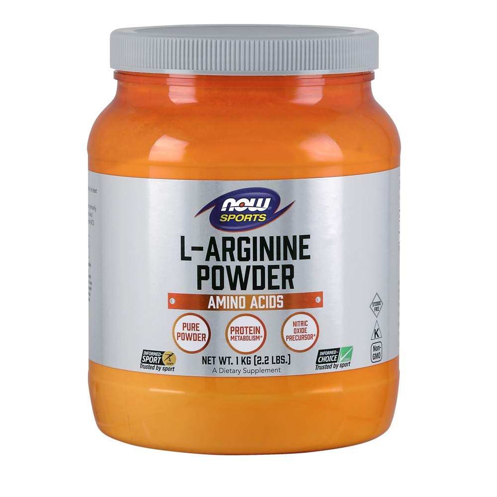 NOW Sports Nutrition, L-Arginine Powder, Amino Acids, 2.2-Pound by Now Sports
