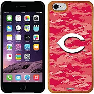 fashion case iphone 5c Madera Wood Thinshield Case with Cincinnati Reds Digi Camo Color Design