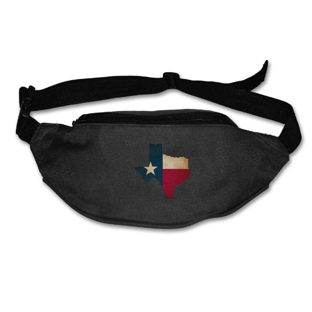 Spanwell Unisex Texas Map Fanny Pack Waist Bag Phone Holder Adjustable Running Belt For Cycling,Hiking,Gym