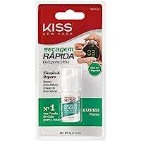 Kiss New York Cola de unha postiças profissional - Secagem Rápida