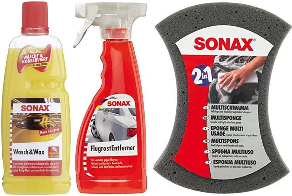 Sonax Wash Wax Glanz Konservierung Multischwamm Flugrostentferner Reinigung Auto
