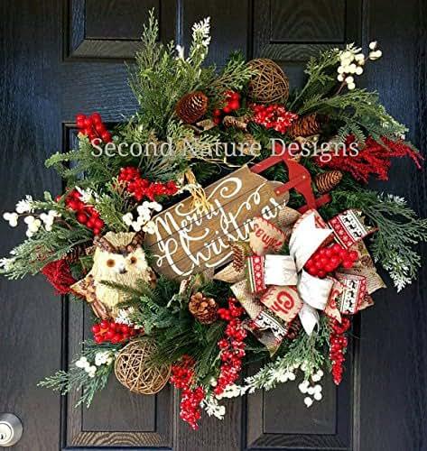 Amazon.com: Woodland Pine Christmas Wreath: Handmade