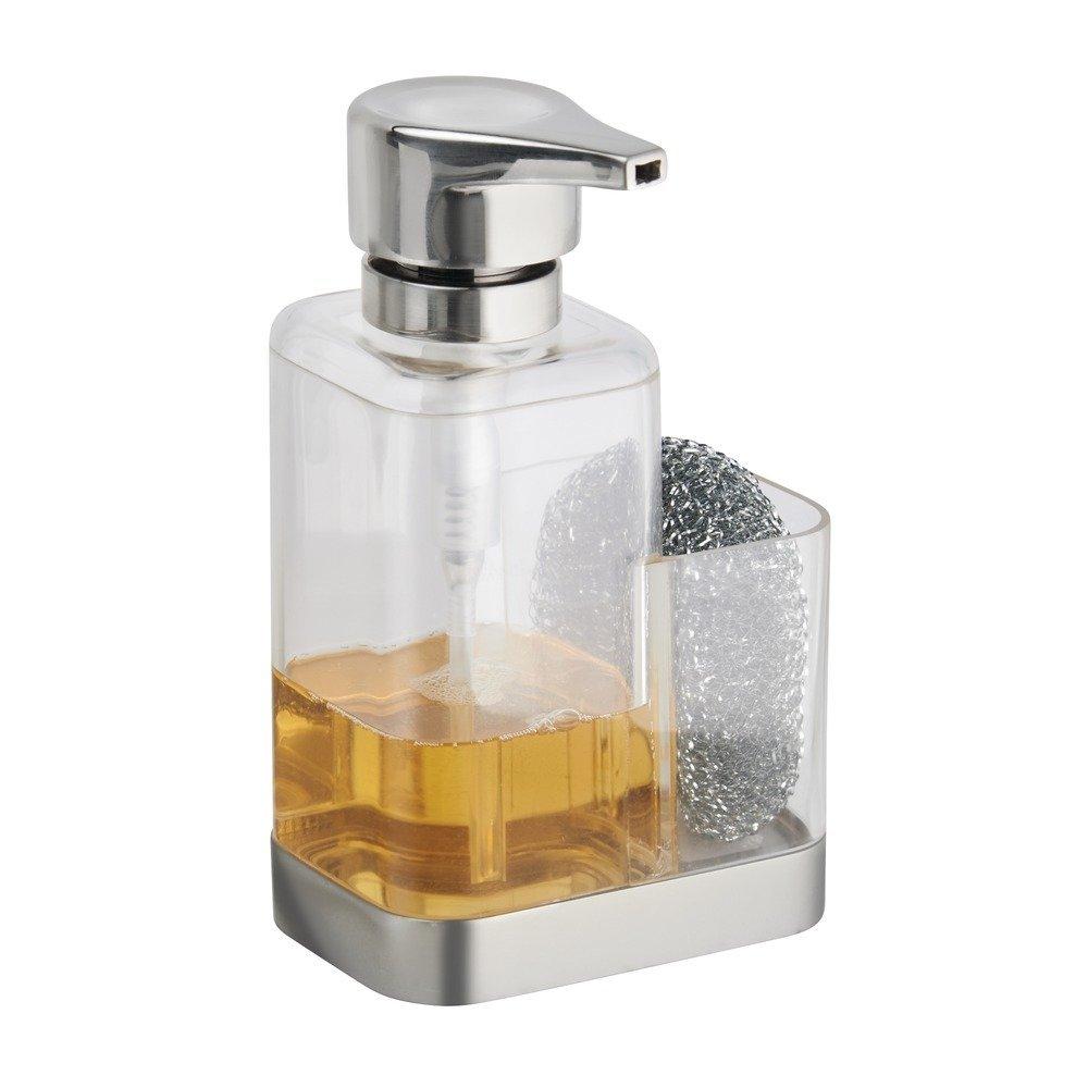 Amazon.com: InterDesign Bruschia Foaming Soap Dispenser with Sponge ...