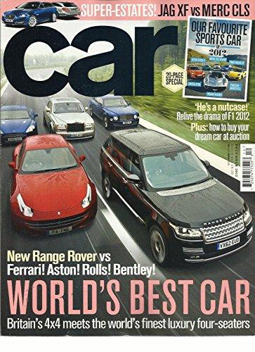 (CAR, DECEMBER, 2012 (FERRARI ! ASTON ! ROLLS ! BENTLEY ! * WORLD'S BEST CAR))