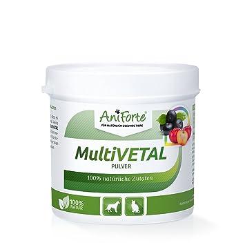 Vitaminas para Perros y Gatos en Polvo - 100g | 100% Natural con Levadura de Cerveza, Cebada, Acerola y Acai | AniForte: Amazon.es: Productos para mascotas