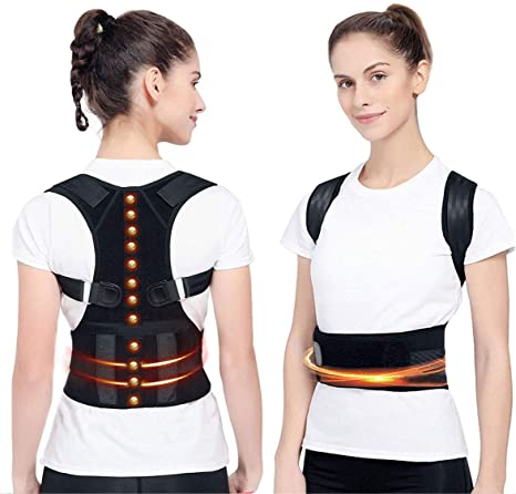 Amazon.com: Magnetic Posture Corrector Back Brace,Therapy Support ...