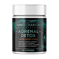 Vitamins for Energy – Immunity Capsules – Adrenal Detox Supplements for Fatigue – Vitamins for Energy and Tiredness – Energy Boosting Supplements – Turbocharged Nutrition Adrenal Detox – 60 Capsules